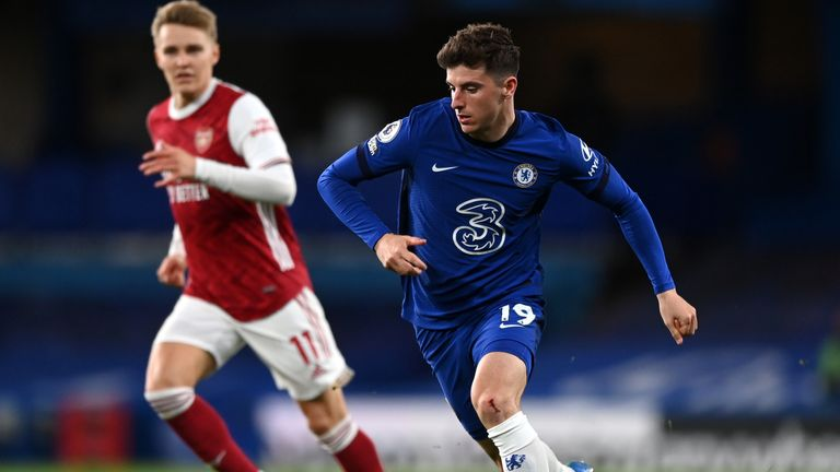 Mason Mount in action against Arsenal