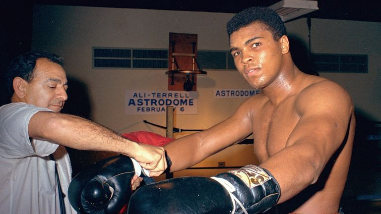 Muhammad Ali, seen here in February 1967, was a high-profile advocate for civil rights in the United States