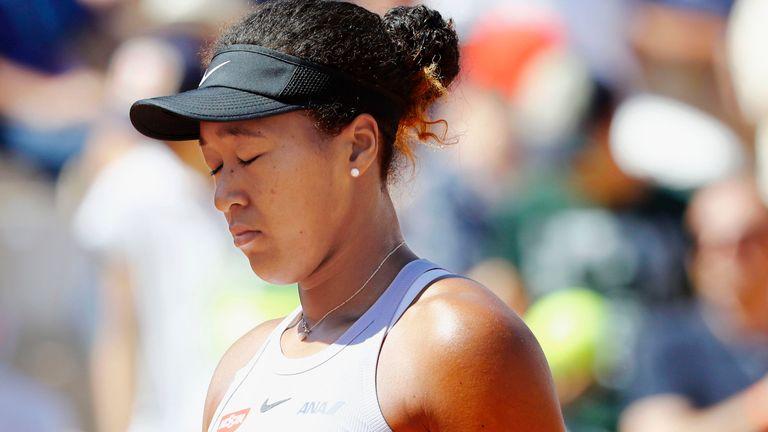 Osaka has yet to make it beyond the third round at Roland Garros (Kyodo via AP Images)