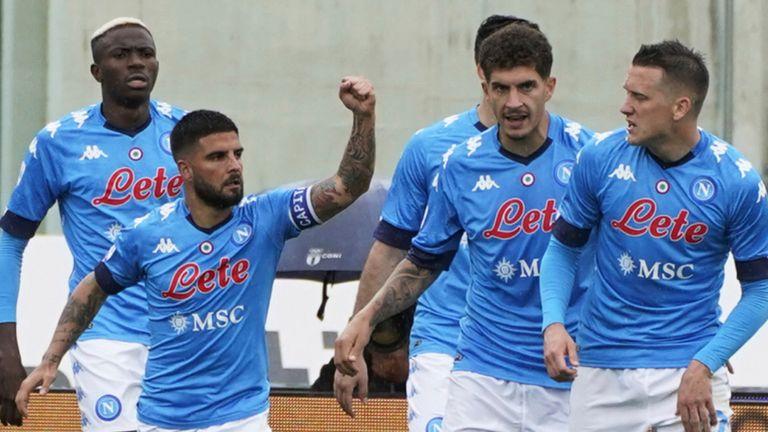 Lorenzo Insigne helped Napoli to victory on Sunday