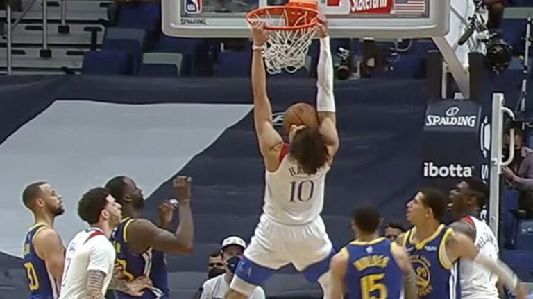 Jaxson Hayes with the putback jam