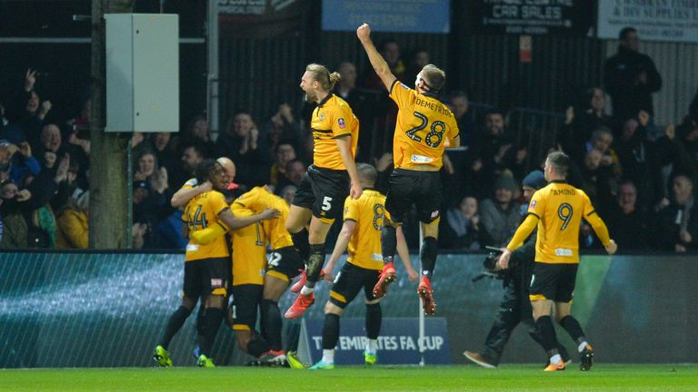 Newport dumped Leicester out