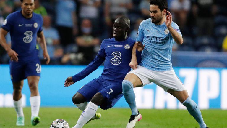 N'Golo Kante tackles Ilkay Gundogan