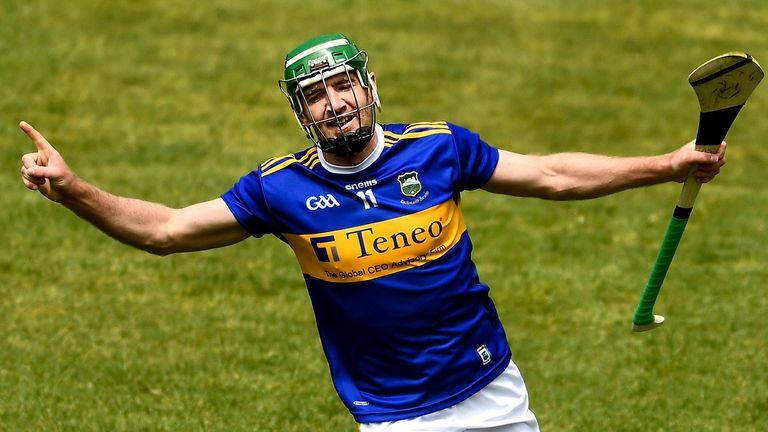 Noel McGrath celebrates his goal
