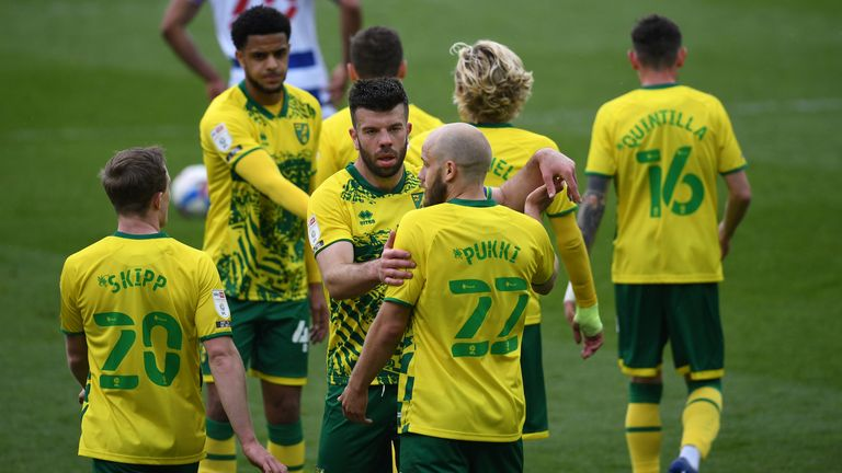 Norwich secured the Championship title in style against Reading