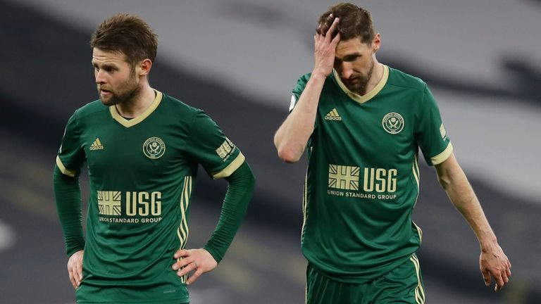 Oliver Norwood and Chris Basham react to a comprehensive defeat to Tottenham