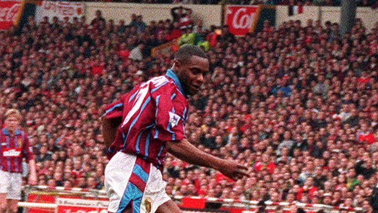 PA -Dalian Atkinson in action for Aston Villa
