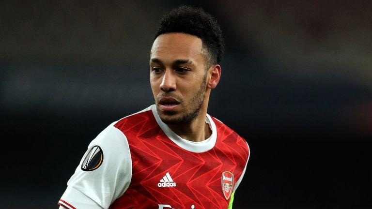 PA - Arsenal striker Pierre-Emerick Aubameyang