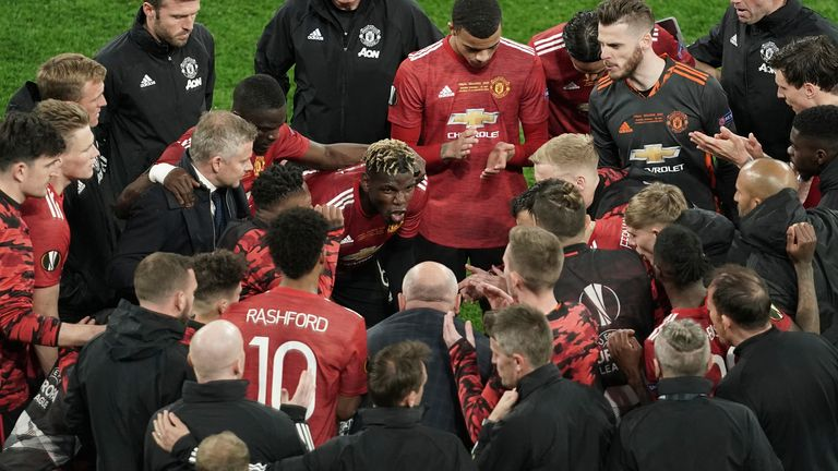Paul Pogba looks to rally the troops ahead of extra-time