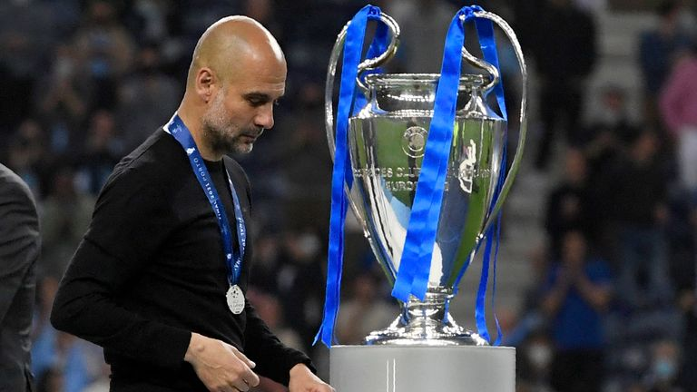 Pep Guardiola was unable to lead Man City to Champions League glory in Porto