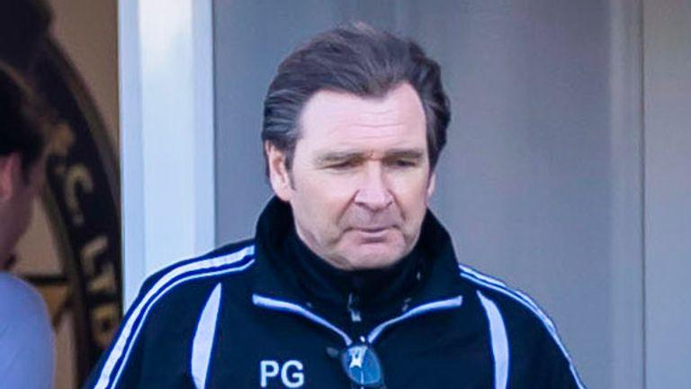 Γκρίνοκ, Σκωτία - 24 Απριλίου: Ο προπονητής της Αλόα Πίτερ Γκραντ κατά τη διάρκεια ενός αγώνα στο Σκωτσέζικο Πρωτάθλημα μεταξύ Γκρίνοκ Μόρτον και Αλόα Αθλέτικ στις 24 Απριλίου 2021 στο Γκρίνοκ της Σκωτίας.  (Φωτογραφία από τον Roddy Scott / SNS Group)