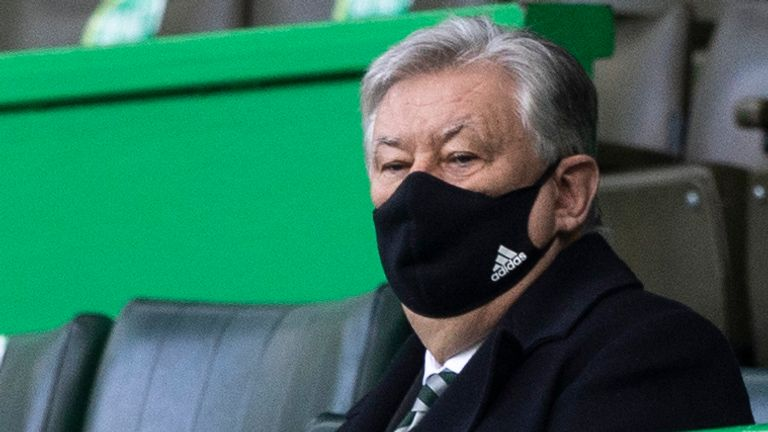 Celtic Cheif Executive Peter Lawwell during the Scottish Premiership match between Celtic and Aberdeen