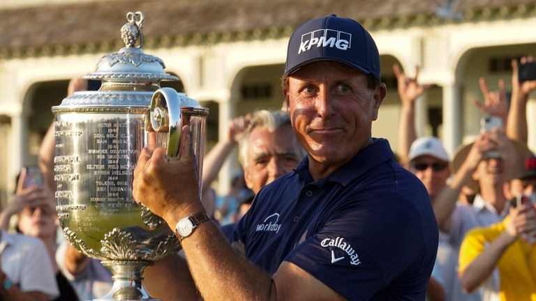 Andrew Coltart says Phil Mickelson becoming the oldest major winner in history by winning the PGA Championship is a story which 'is not meant to happen' in sport