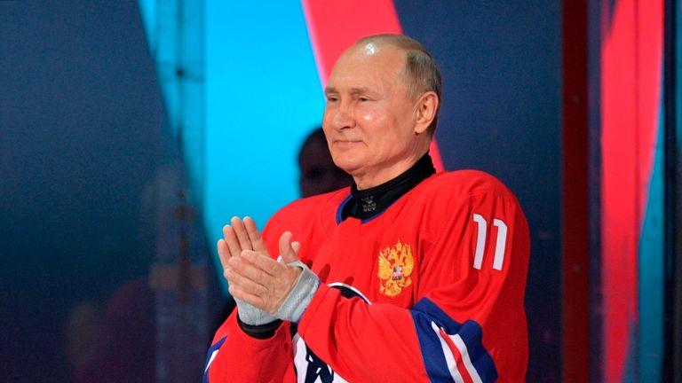 Russian President Vladimir Putin took part in an all-star ice hockey game in Sochi