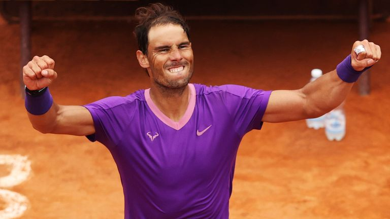 Rafael Nadal won his first game in four games against Alexander Zverev to reach the semi-finals at Foro Italico