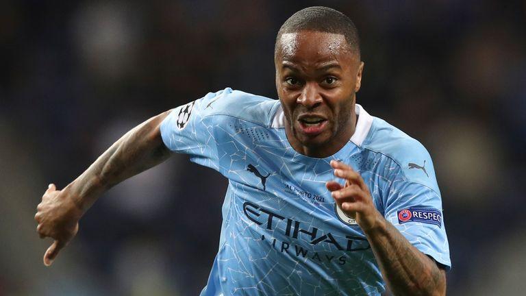 Raheem Sterling was racially abused on social media after Man City's Champions League final defeat by Chelsea