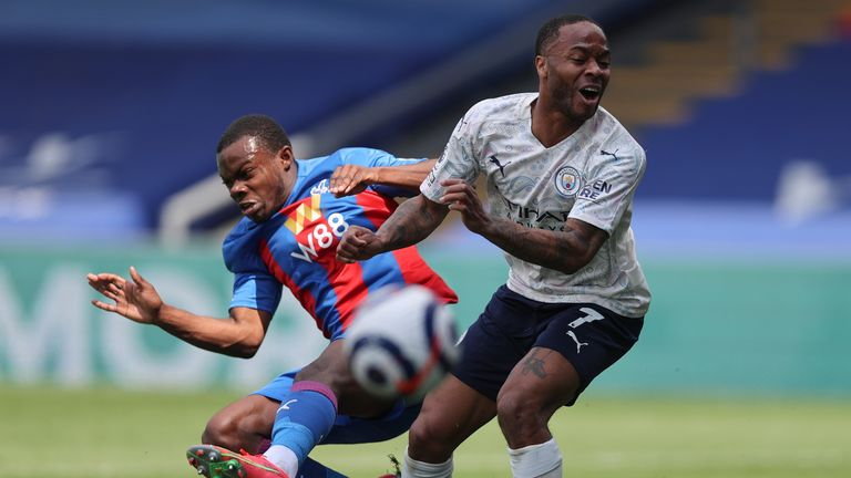 AP - Sterling in action against Crystal Palace