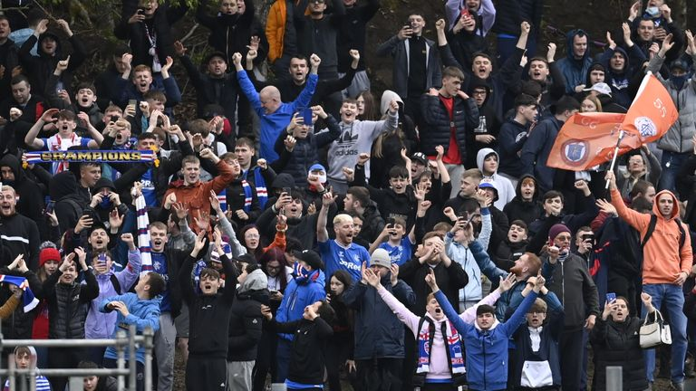 Rangers manager Steven Gerrard wants supporters to enjoy the club's title celebrations but urged them to stay safe