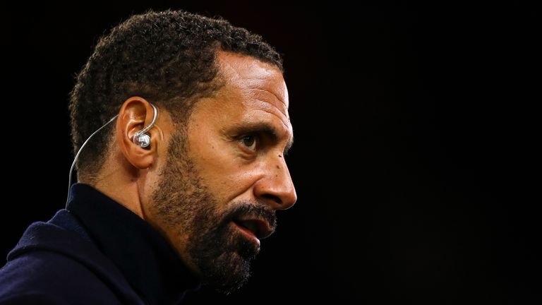 Rio Ferdinand during the FA Cup Third Round match between Wolverhampton Wanderers and Manchester United at Molineux on January 4, 2020