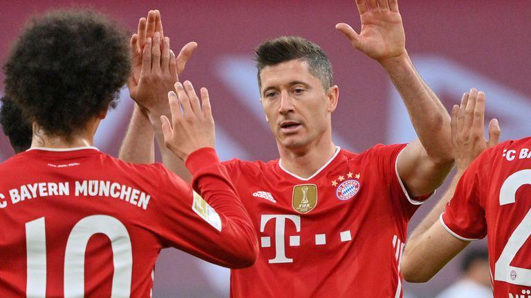 Robert Lewandowski scored a hat-trick for Bayern Munich