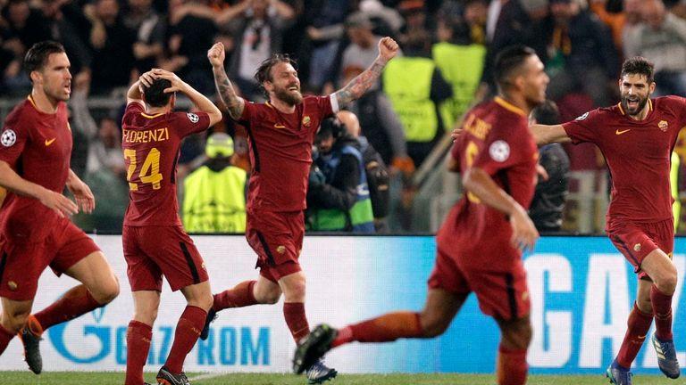 La Roma ha segnato una storica vittoria sul Barcellona nel 2017