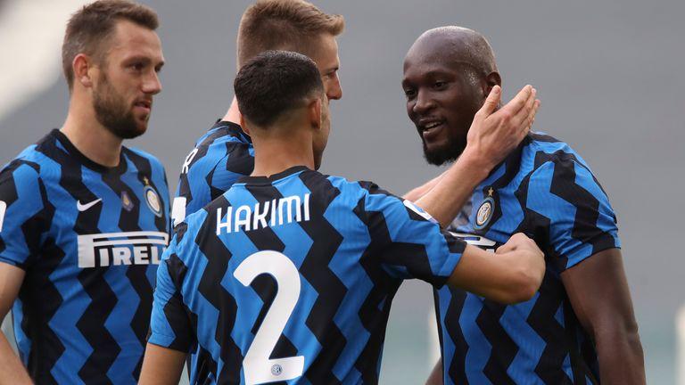 Romelu Lukaku celebrates dragging Inter Milan level against Juve