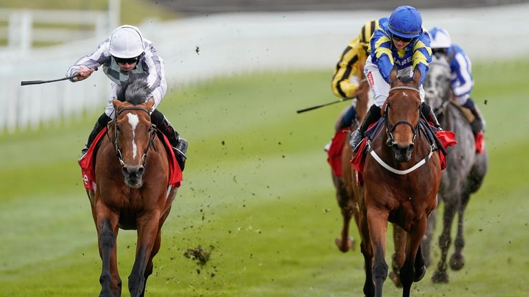 Ryan Moore riding Japan sees off Hollie Doyle and Truesham in the Ormonde Stakes at Chester on Thursday
