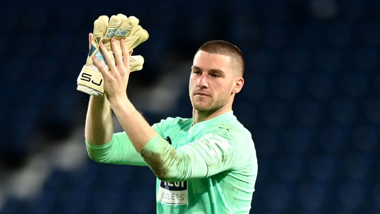 West Brom goalkeeper Sam Johnstone is in line for a place in England's Euro 2020 squad