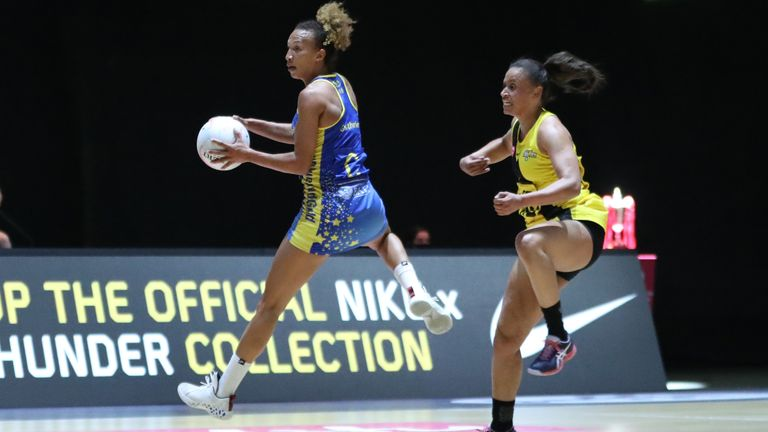 Serena Guthrie had an outstanding game for Team Bath Netball (Image Credit - Morgan Harlow)