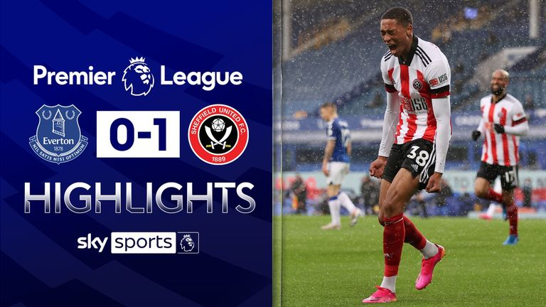 EVERTON 0-1 SHEFFIELD UNITED