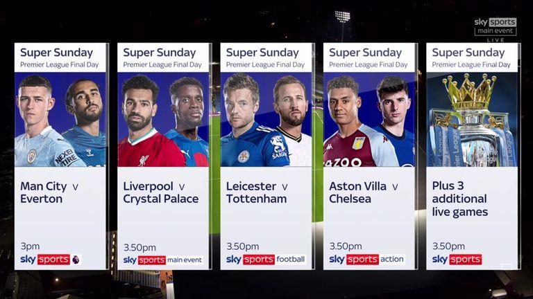 Live on Sky - Premier League final day