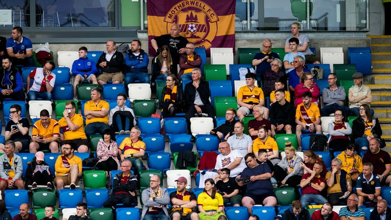 SNS - General view of Motherwell fans