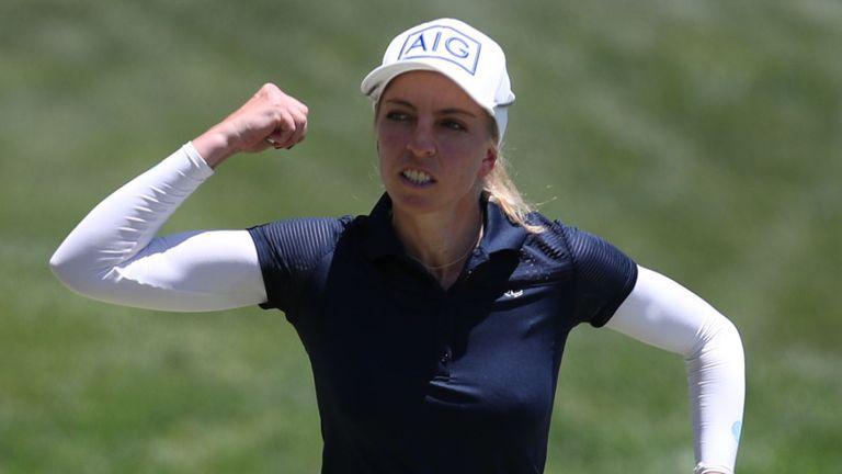 AIG Women's Open champion Sophia Popov narrowly missed out on a second LPGA Tour title