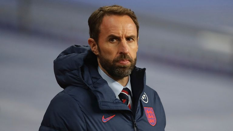 November 18, 2020, London, United Kingdom: Gareth Southgate manager of England during the UEFA Nations League match at Wembley Stadium, London. Picture date: 18th November 2020. Picture credit should read: David Klein/Sportimage(Credit Image: © David Klein/CSM via ZUMA Wire) (Cal Sport Media via AP Images)