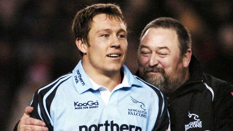 Steve Black (R) has worked with, among others, England rugby legend Jonny Wilkinson