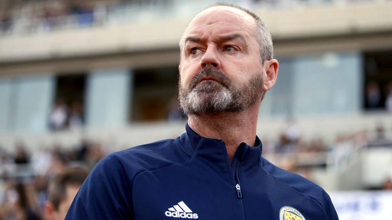 File photo dated 16-11-2019 of Scotland manager Steve Clarke. Issue date: Wednesday May 5, 2021 (PA)