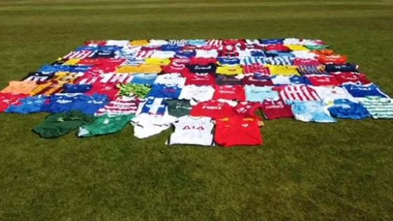 Steve Dukes is hoping to auction football shirts