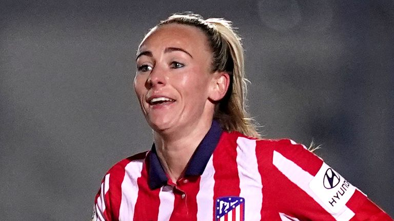 Atletico Madrid's Toni Duggan during the Women's UEFA Champions League match at Kingsmeadow Stadium, London. Picture date: Wednesday March 3, 2021.