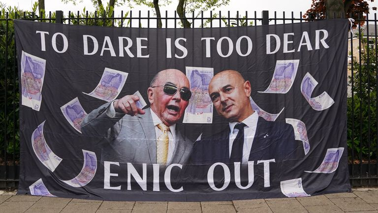 PA - 'To Dare Is Too Dear' Spurs protest banner