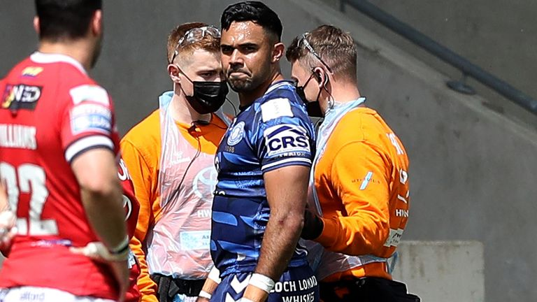 French was injured in the Warriors' win against Salford over the weekend