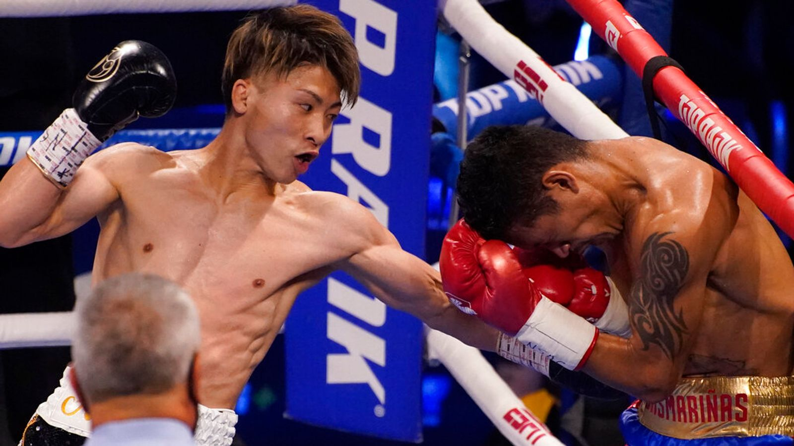 Naoya Inoue smashes Michael Dasmarinas with body shots to record KO win in world bantamweight title defence - Sky Sports