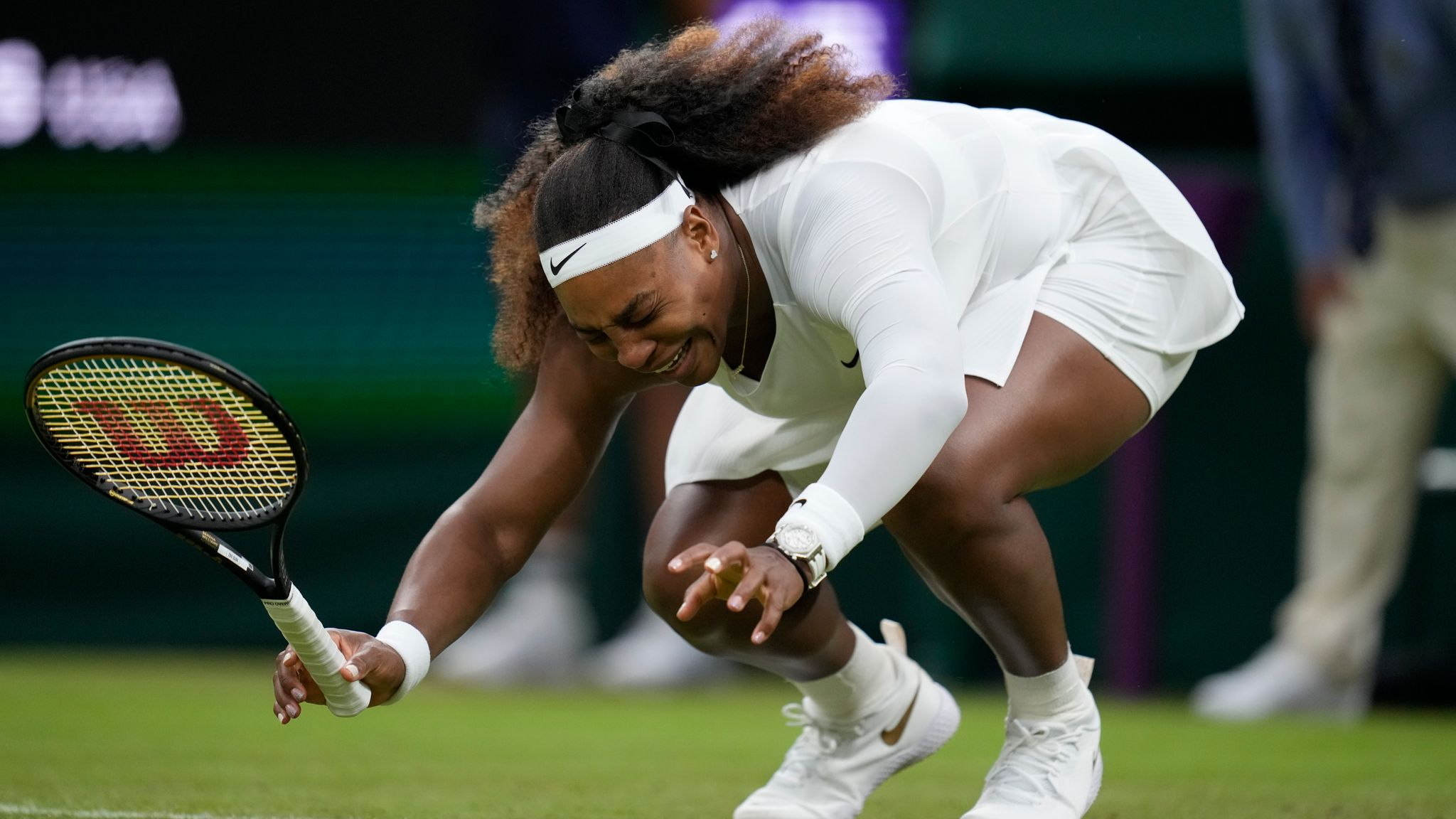 Wimbledon 2021: Serena Williams out after suffering ankle injury during  first-round match   Tennis News   Sky Sports