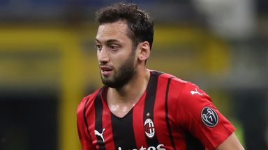 Hakan Calhanoglu is set to return to Milan on Monday after Turkey's early exit from Euro 2020