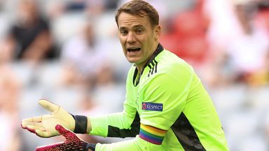 Germany goalkeeper Manuel Neuer has been wearing a rainbow armband in honour of Pride Month