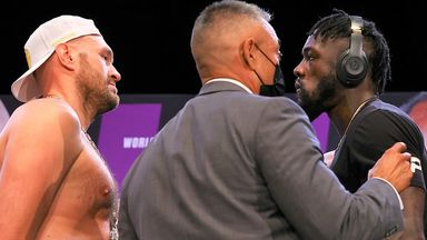 Tyson Fury and Deontay Wilder were finally separated after a tense face-off
