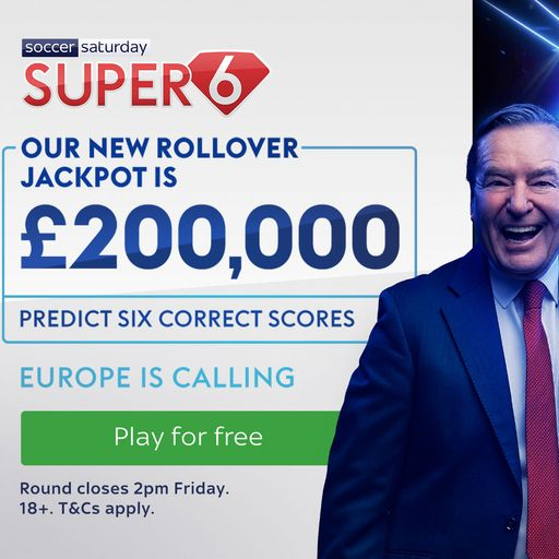 Win £200,000 with Super 6!