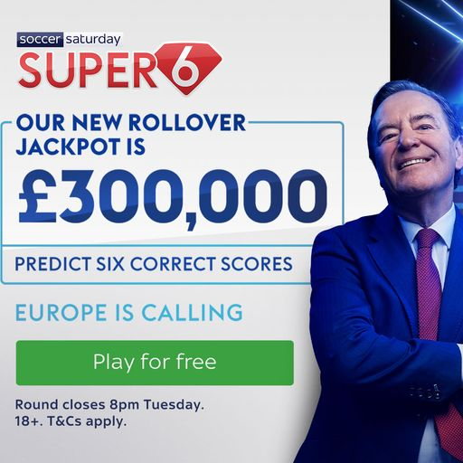 Win £300,000 with Super 6!