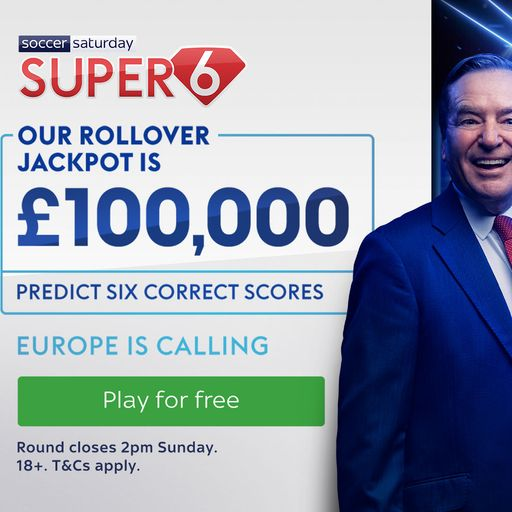 Win £100,000 with Super 6!