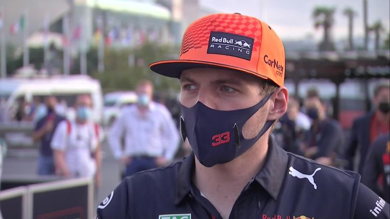 Max Verstappen says that he had no warning after his tyre blew out during the Azerbaijan GP