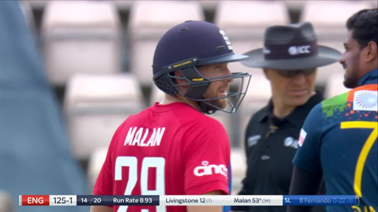 Watch the best bits from Dawid Malan's 30-ball half century for England in the third T20I versus Sri Lanka